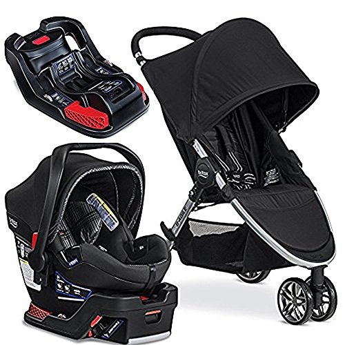 Britax 2017 B-Agile/B-Safe 35 Elite Travel System Domino with Extra Elite Base
