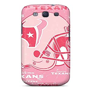 Durable Cases For The Galaxy S3- Eco-friendly Retail Packaging(houston Texans)