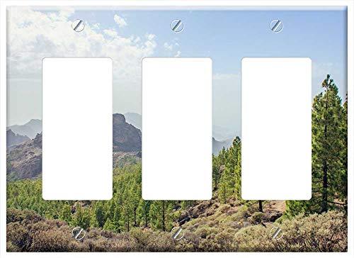 Light Canaria Gran Three - Switch Plate Triple Rocker/GFCI - Gran Canaria Canary Islands Mountains Mountain