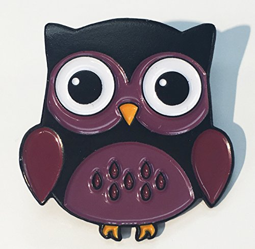 Cute Purple Woodland Hoot Owl Purple Enamel Lapel Pin ()