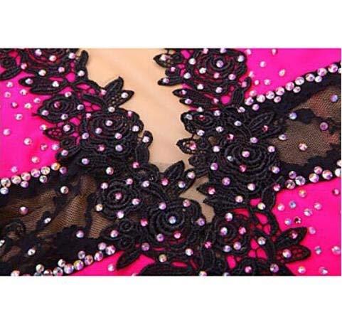 Fuweiencore Elastan Bambina rete Ghiaccio Su Da Per In Donna Vestito Moda Leggera Seta E Elasticità Pattinaggio Alta Pratica Esecuzione Maglia PArPq