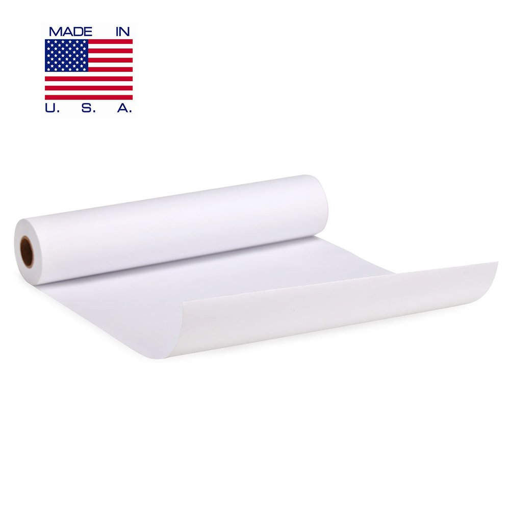 White Kraft Paper Roll - 18 inches by 200 FEET - Butcher & Art Paper - Great Smoking Wrapping Paper for Meats - Perfect for Paints, Wall Art, Easel Paper - Made in USA – Unwaxed and Uncoated by Land Work Provisions