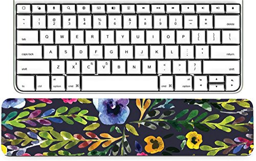 Luxlady Keyboard Wrist Rest Pad Long Extended Arm Supported Mousepad ID: 43000615 Watercolor seamless pattern with pansies Background for web pages wedding invi -