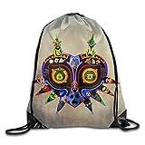 The Legend Of Zelda Majoras Mask Cool Sack Bag Drawstring Backpack Sport Bag