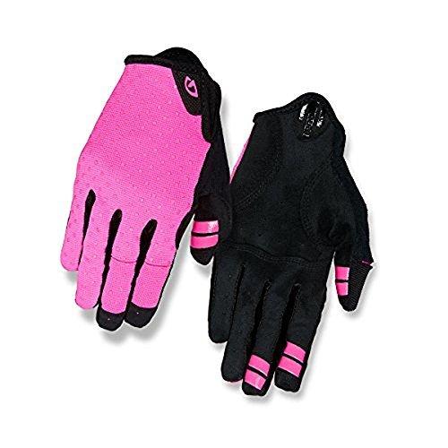 Giro 2018 Women's LA DND Full Finger Cycling Gloves (Bright Pink/Pink Dots - XL) ()