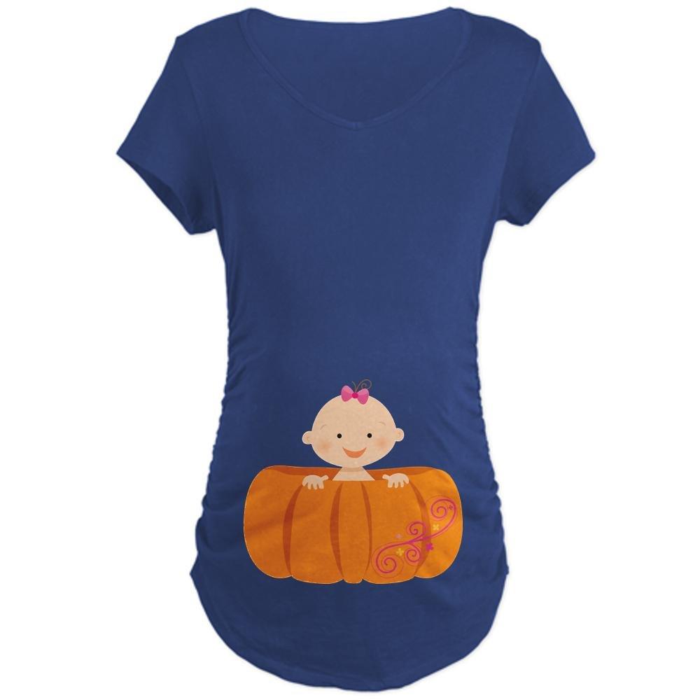 501ecb4455e71 CafePress Halloween Pumpkin Baby Pregnancy Maternity Tee at Amazon Women s  Clothing store