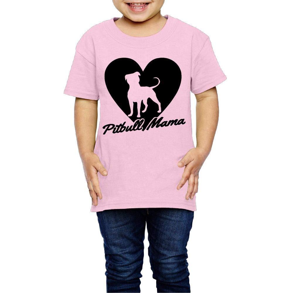 XYMYFC-E Pitbull Mama 2-6 Years Old Child Short-Sleeved Tee Shirts