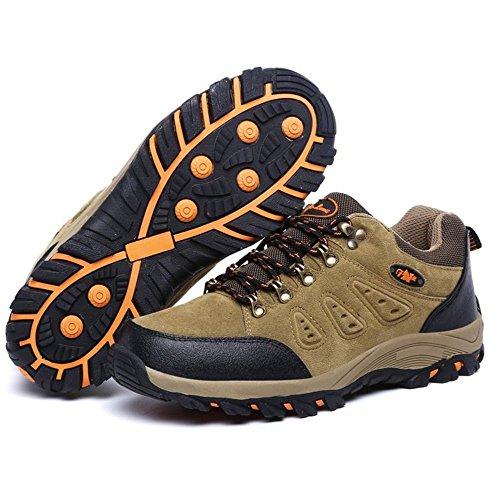 Khaki Casual Hiking Adulto TAOFFEN Stivali Sportive Scarpe Unisex Men f8Bx6anR