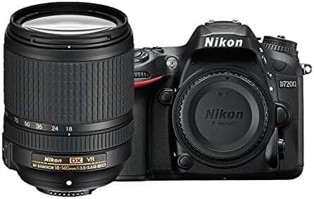 Nikon D7200 DX-format DSLR w/ 18-140mm VR Lens (Black)