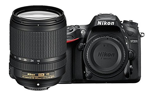 Nikon D7200 DX-format DSLR w/ 18-140mm VR Lens (Black)