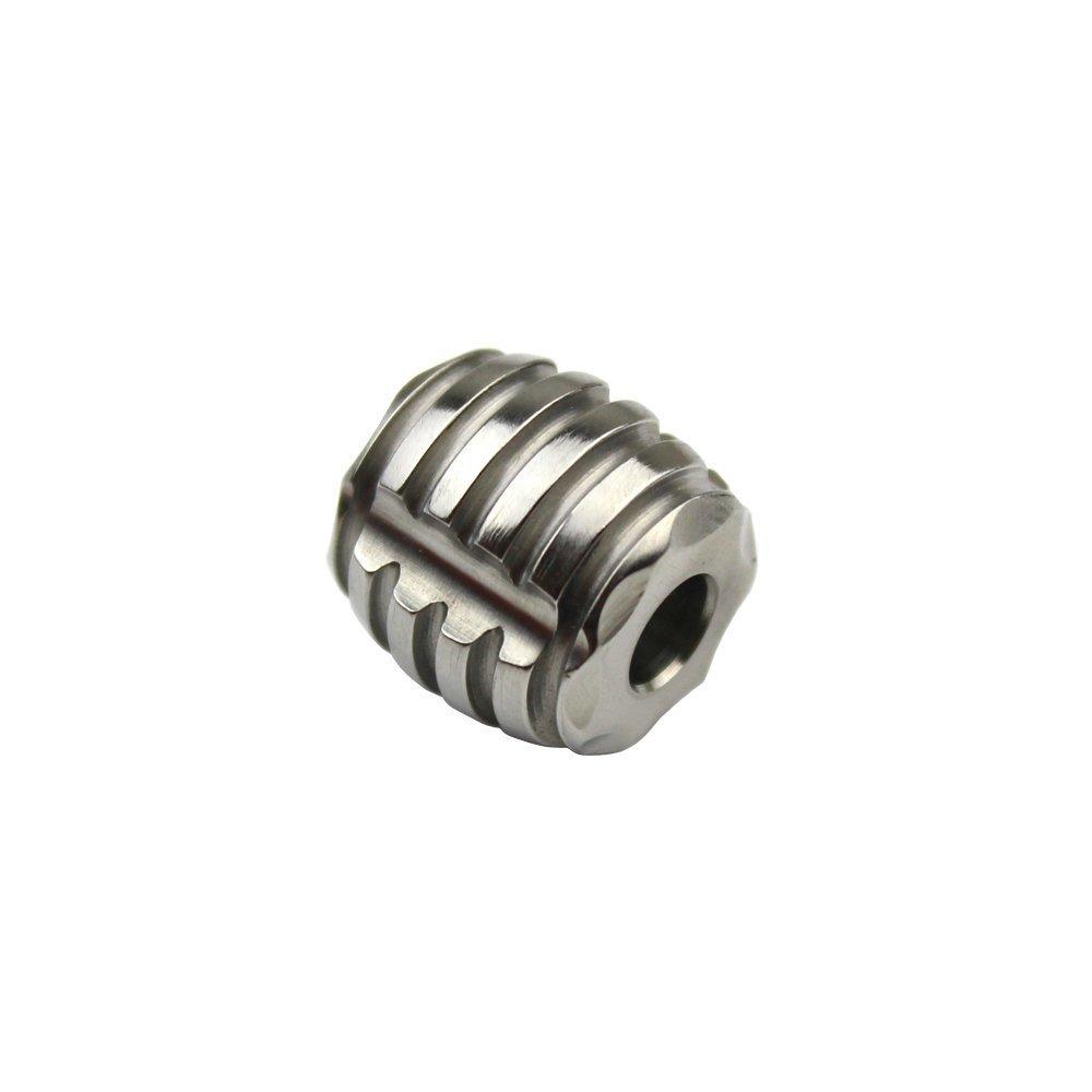 TI-EDC Titanium 15mm Bead for Keychain, Dagger, Knife Lanyard - 5.5mm Hole Charm Pendant for Parachute Cord Paracord