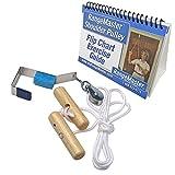 RangeMaster Overhead Shoulder Pulley, Wooden Handles, Metal Door Bracket and Flip Chart