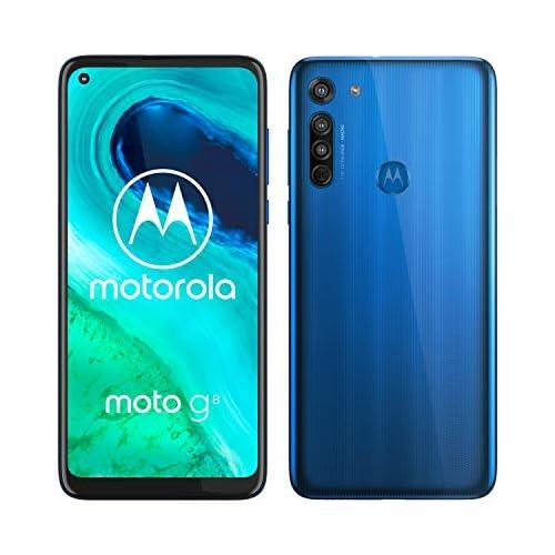 chollos oferta descuentos barato Motorola Moto G8 Smartphone de 6 4 HD o notch 4G Qualcomm Snapdragon SD665 Sistema de cámara triple 64 GB 4 GB RAM Android 10 Color Azul