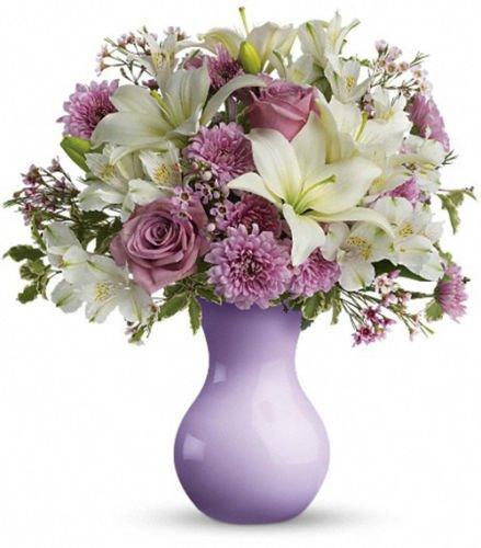 Amazon Telefloras Serendipity Lavender Vase Home Kitchen