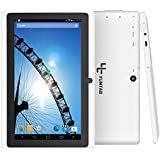 Yuntab Q88 7 Inch Allwinner A33,1.5 Ghz Quad Core Google Android Tablet PC,512MB+8G,Dual Camera,WiFi,Bluetooth,Mini USB,G-Sensor,Support SD/MMC/TF Card(White)