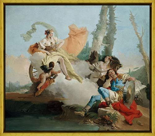 Framed Giovanni Battista Tiepolo Giclee Canvas Print Paintings Poster Reproduction(Rinaldo Enchanted by Armida) #XLK (Rinaldo Enchanted By Armida Giovanni Battista Tiepolo)