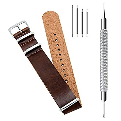 CIVO Synthetic Leather NATO Zulu Military Swiss G10 Watch Band Strap 18mm 20mm 22mm with Stainless Steel Buckle from CIVO
