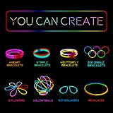 """Halloween Glow in the Dark Party Supplies, 200 8"""" Glow Sticks Party Favors Pack in Bulk With Additional 238 Connectors to Create Bracelets, Necklaces, Glow Balls, Eyeglasses and More"""