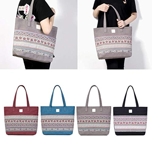 Women Hobo Bag Black Tote Handbag Girls Beach Capacity Shoulder Canvas Leisure LifePavilion Large dCxwYd