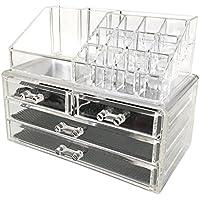 Sodynee Jewelry and Cosmetic Storage  2 Piece Acrylic...