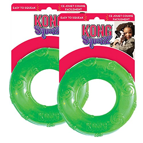 Sapphire Dog Ring - KONG Squeezz Ring Dog Toy, Large, Colors Vary