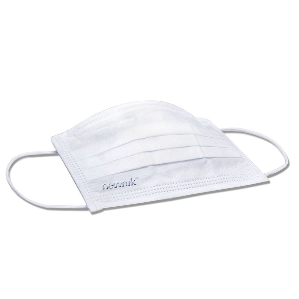 Newnik Disposable Elastic Face Mask 2Ply -200 Pieces (White)