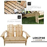 LOKATSE HOME Outdoor Wooden Adirondack Bench