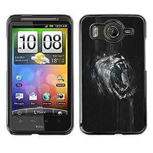 // PHONE CASE GIFT // Duro Estuche protector PC Cáscara Plástico Carcasa Funda Hard Protective Case for HTC G10 / Roaring Lion B & W /
