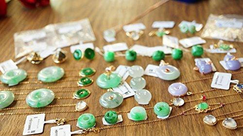 (TKHNE Custom pure 18k gold inlay natural a cargo jade necklace pendant bracelets Yang green emerald necklace pendant emerald ring)
