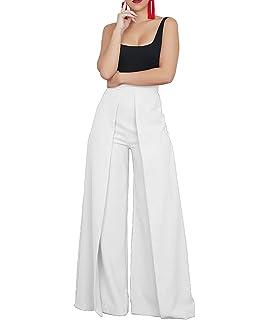 c4a0d0098f1 Salimdy Women Elegant High Waist Wide Leg Pants Palazzo Lounge Trouser