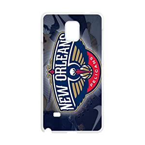 New Orleans Pelicans NBA White Phone Case for Samsung Galaxy Note4 Case