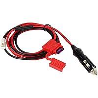 Morelyfish DC Noir Rouge 12V Cordon d'alimentation Câble Cigarette Remplacement de la fiche Allume YAESU ICOM Kenwood TM-241/261 Radio Two Way