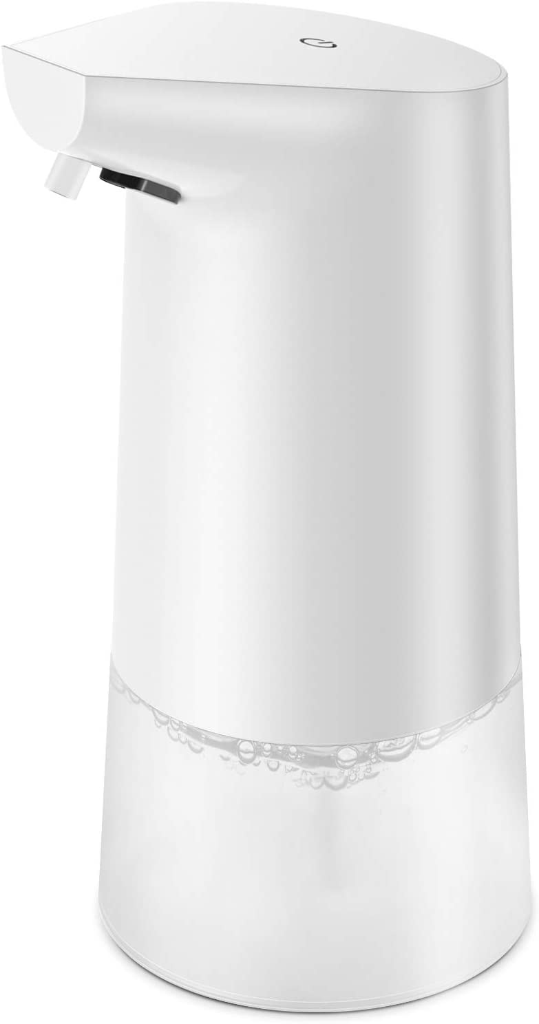 Nozama Foaming Automatic Soap Dispenser,Foam Soap Dispenser Touchless,Touch Switches,Infrared Motion Sensor, Suitable for Bathroom Kitchen Hotel Hospital School Office Restaurant