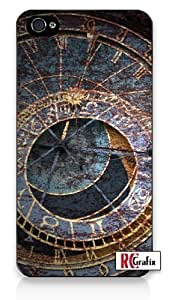 Distressed Look Astronomical Astro Time Clock iPhone 4 Quality Hard Snap On Case for iPhone 4 4S 4G - AT&T Sprint Verizon - Black Frame hjbrhga1544