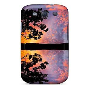 MeSusges Snap On Hard Case Cover The Colorful Evening Sky Protector For Galaxy S3