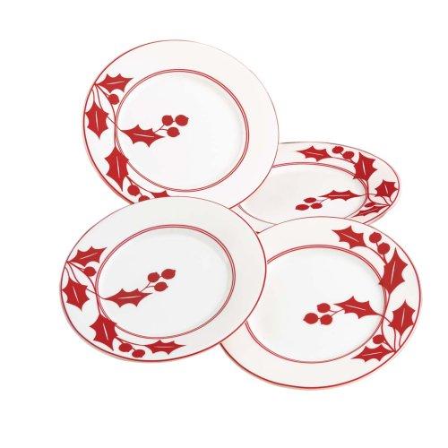 Lenox Holly Silhouette - Lenox Holly Silhouette Party Plates, S/4