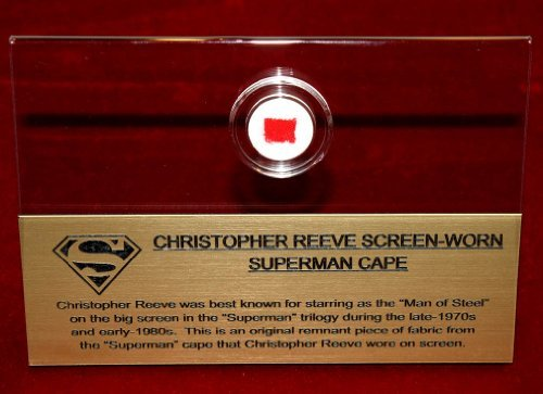 Superman Lives Costume (Screen-Used SUPERMAN CAPE piece! Real CAPE Artifact in CASE, FRAME, PLAQUE, COA)