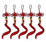 Homyl 5pcs/Pack Handmade Chinese Traditional Knots for Bau Cucurbit Flute Hulusi Hanbag Bedroom Accessory