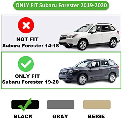 MarretooAuto No Gap Anti-Theft Trunk Cover Compatible with Black Retractable 2019 2020 Subaru Forester Cargo
