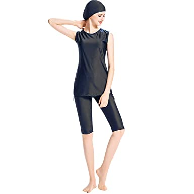Strollers Accessories Search For Flights Modesty Muslim Summer Swimwear Islamic Swimsuit Women Girls Swimwear Short Sleeves Stripe Style With Hijab Cap