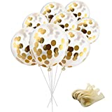 Toys : SOTOGO 15 Pieces Confetti Balloons With Golden Paper Confetti Dots (Confetti Has Been Put Into The Balloons) For Party, Wedding And Proposal, 12 Inches