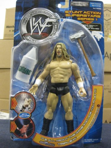 WWF Stunt Action Superstars Series 1 Triple H by Jakks Pacific 2001 - Wwe Action Figures 2001