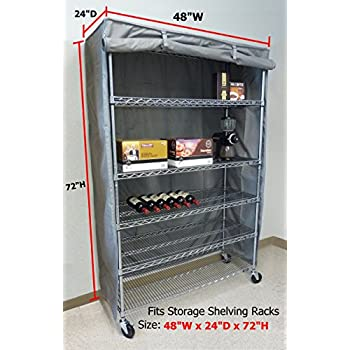 Amazon Com Storage Shelving Unit Cover Fits Racks 48