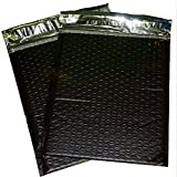 200 4x8 Black Poly Bubble Mailer Envelope Shipping Wrap Paper Mailing