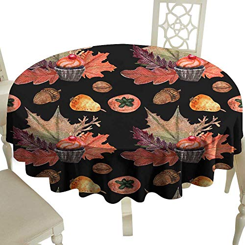 WinfreyDecor Oil-Proof and Leak-Proof Tablecloth Watercolor Pattern Halloween Indoor Outdoor Camping Picnic -