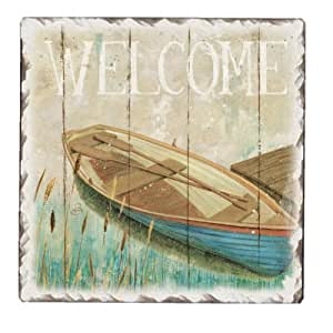 CounterArt Lakeside Tumbled Tile Trivet, 6-Inch