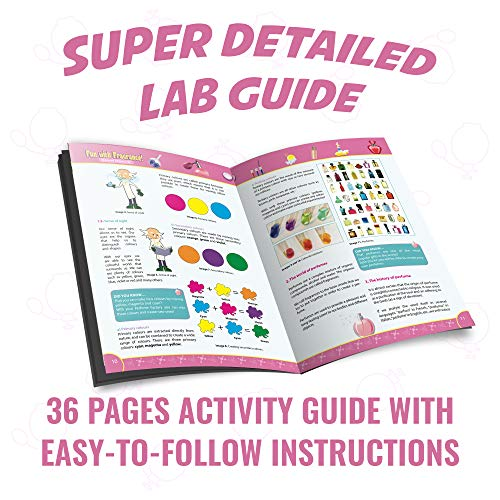 Playz Fun with Fragrance Perfume Making Science Kit for Kids - 13+ STEM Experiments & DIY Activities to Learn the Chemistry Behind Perfumes with 36 Page Lab Guide & 27+ Tools and Ingredients for Girls by Playz (Image #3)