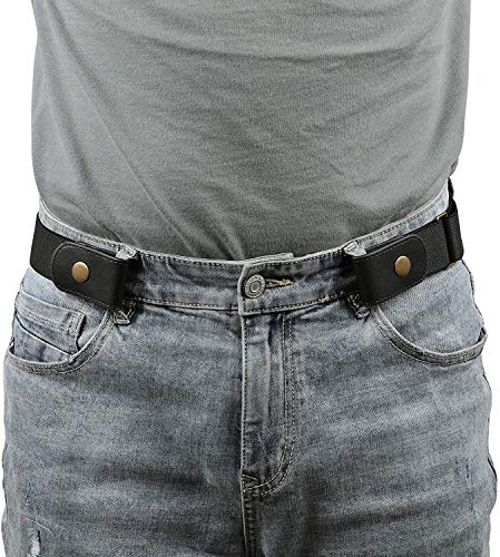 JasGood Men No Buckle Belt Buckle Free No Show Elastic Belts Women Unisex Invisible Adjustable Waist Belt for Jeans Pants