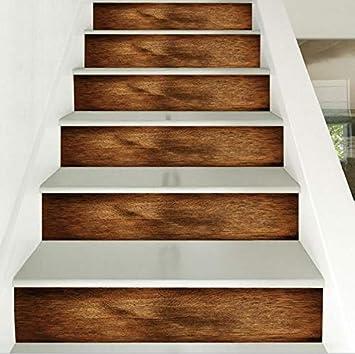 Paso Escalera Pegatinas Adhesivo para escaleras, Grano de madera 3D - Desmontable - Decoración de pared impermeable. Pegatinas de pared (Size : 100 * 18cm*6pcs): Amazon.es: Bricolaje y herramientas