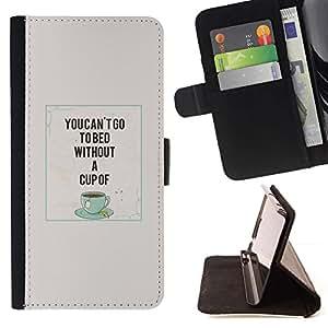 For HTC Desire 820 Case , Taza de café Cita Caf? Trullo- la tarjeta de Crédito Slots PU Funda de cuero Monedero caso cubierta de piel